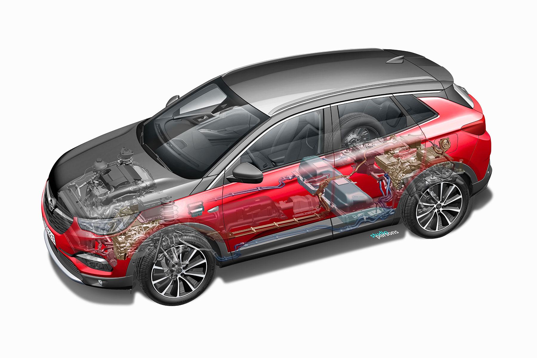 Трансмісія Opel Grandland X Hybrid4